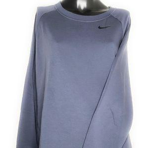 Nike Dri-Fit Blue Pullover Sweatshirt Mens Large